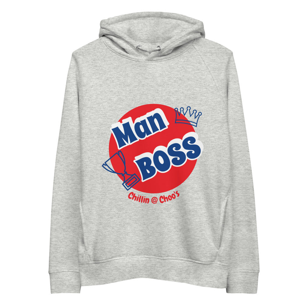 Man BOSS - Chillin @ Choo's White/Grey Unisex Pullover Hoodie