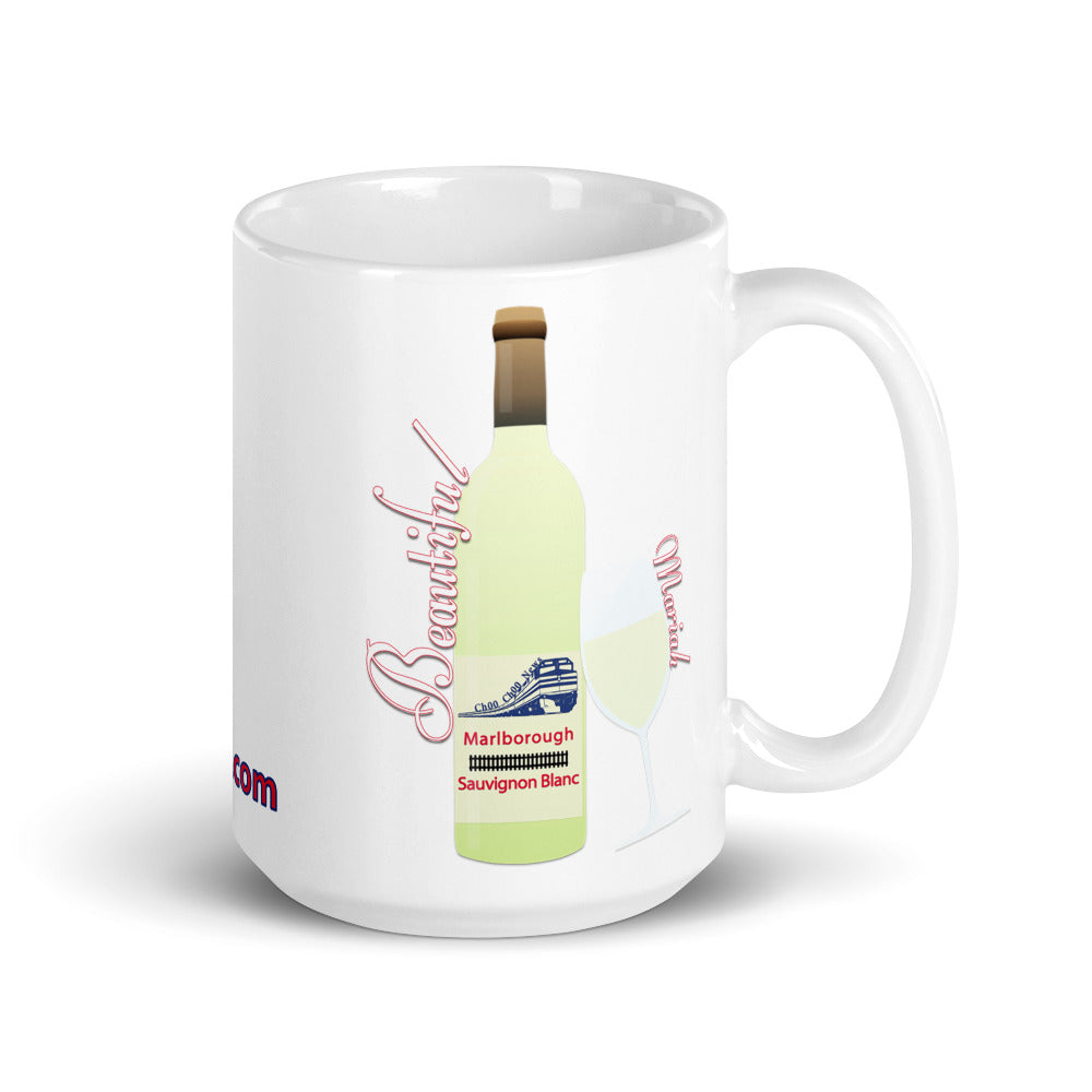 15oz Beautiful Mariah White Glossy Mug
