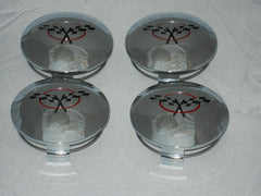 4 CAP DEAL 614-7754 CHECKERED FLAGS WHEEL RIM CHROME CENTER CAP PWA-99-1372-D-CF