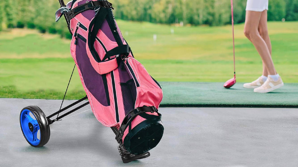 The collapsible golf push cart