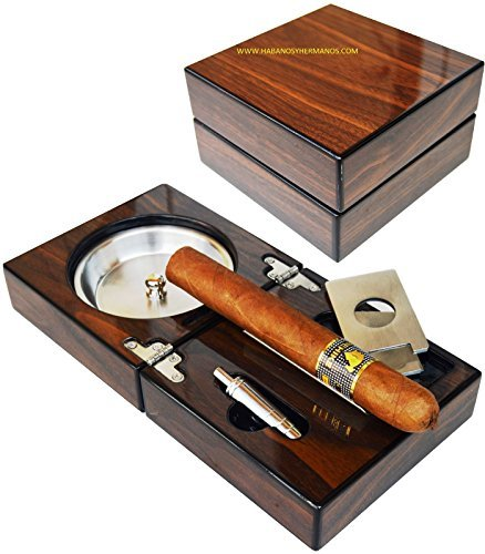Buy Compact Ashtray With Best Cigar Cutter and Punch - Golfing Utopia