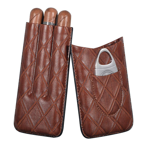 Buy the Leather Portable Cigar Case - Golfing Utopia