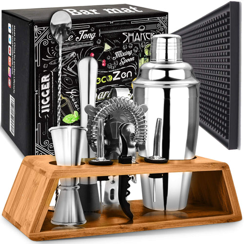 Buy the Best Cocktail Shaker Set With Bar Mat - Golfing Utopia