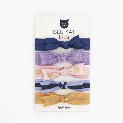 BLU KAT Elastic Bow Hair Ties for Kids - BLU KAT