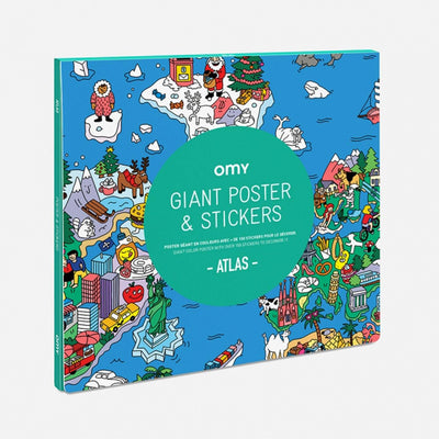 ATLAS - Giant Poster with Stickers - BLU KAT