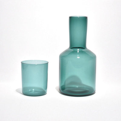 Carafe & Glass Set - Teal - BLU KAT