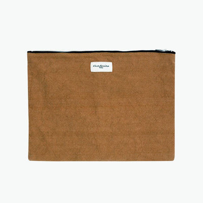 Barbette Recycled Cotton Pouch - Camel - BLU KAT