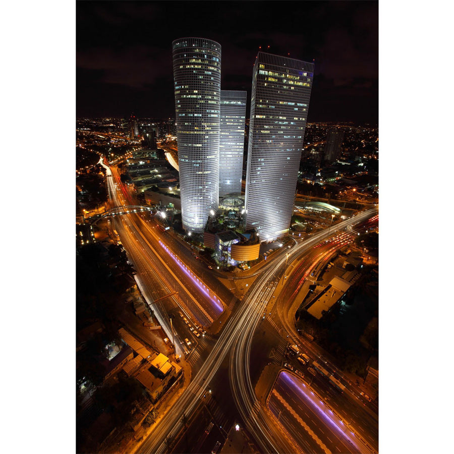 Azrieli Towers at Night