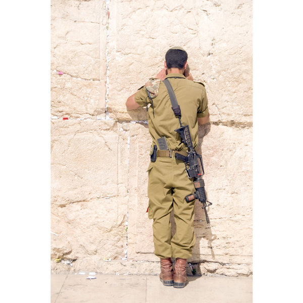 IDF Soldier Praying at Kotel