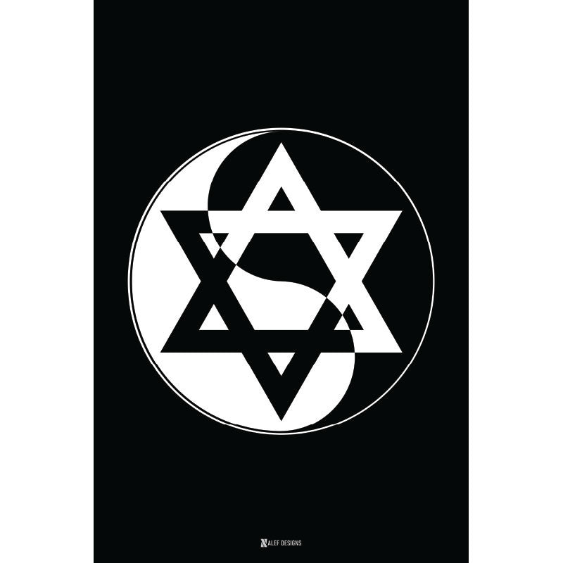 Yin-Yang Star of David Poster
