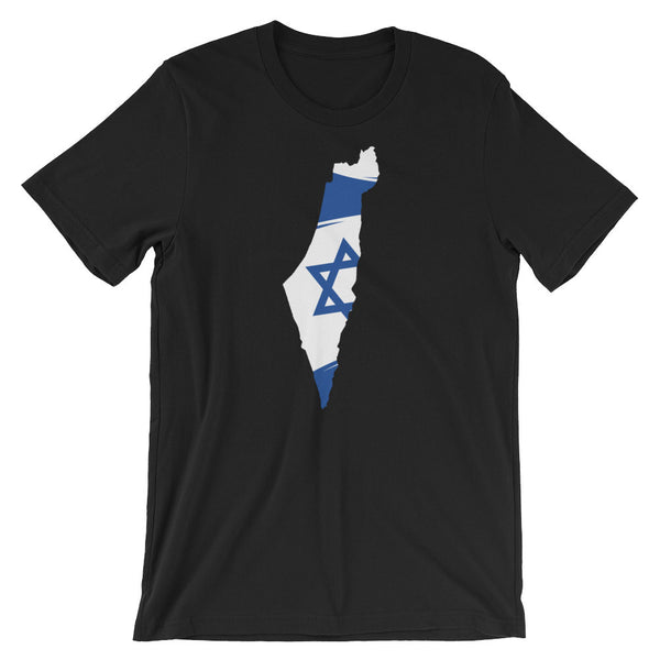 Israel Flag on Map T-Shirt
