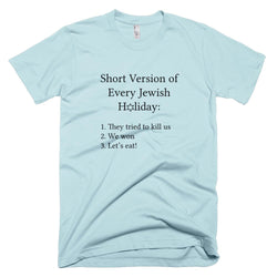 Short Version Jewish Holiday T-Shirt