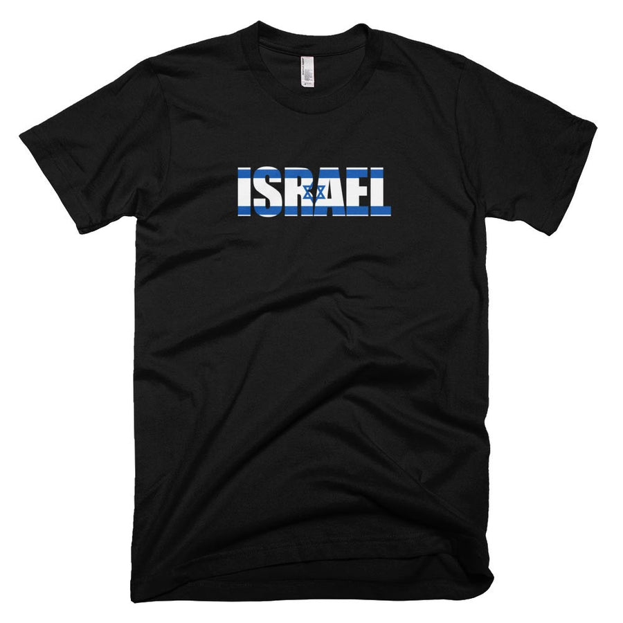 Israel Flag in Letters T-Shirt
