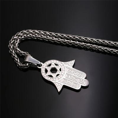 Hand of Miriam Hamsa Necklace Pendant