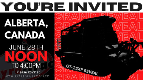 GT-25 XP Reveal Invitation from Gyro-Trac