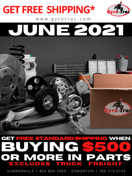 Monthly Parts Sale | June 2021 | Gyro-Trac Forestry Mulchers