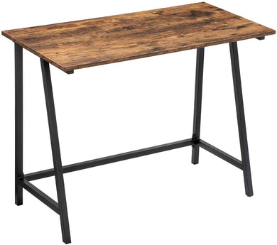 VASAGLE Computer Desk, 39-Inch Writing Study Desk for Home Office, Small Workstation with Iron Frame Top, Easy Assembly, Stable and Space-Saving, Industrial, Rustic Brown ULWD40X