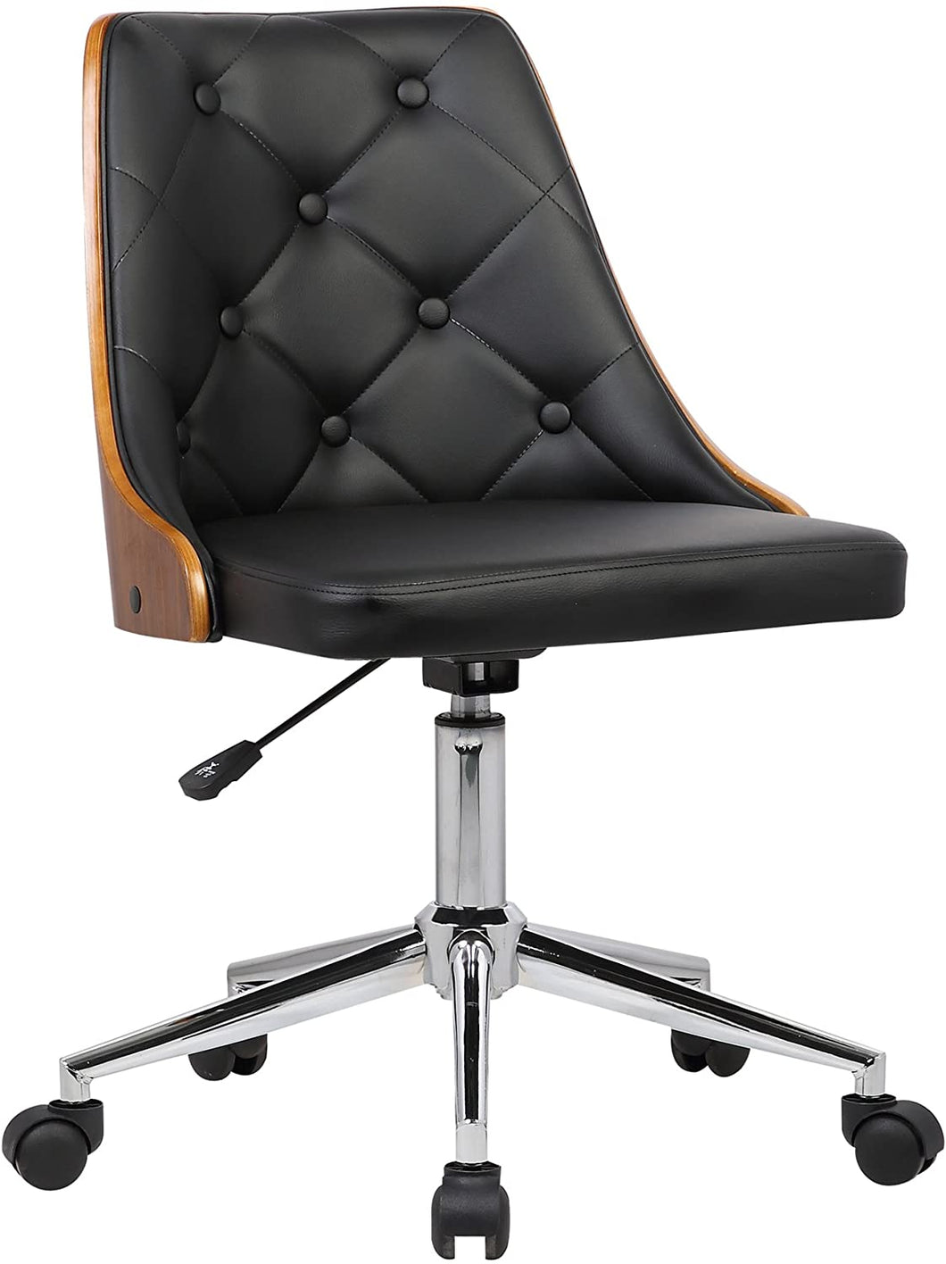 Diamond Office Chair w/ Black faux leather