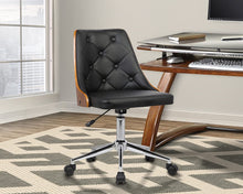 Load image into Gallery viewer, Diamond Office Chair w/ Black faux leather