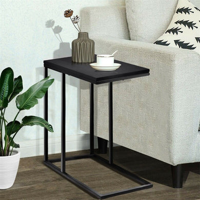 Brand C Shape Coffee Tray Sofa Side End Table High Quality MDF Sturdy Durable Perfect Decor Bedroom Living Room Coffee Tables
