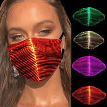 Load image into Gallery viewer, 7 Colors Bar LED Light 2020 Fiber Fabric Cool bandana Personality Chargeable Halloween face Party KTV cosplay