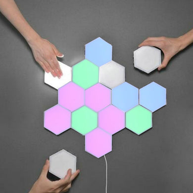 Touch Sensitive Colorful LED Honeycomb  Wall Lamps