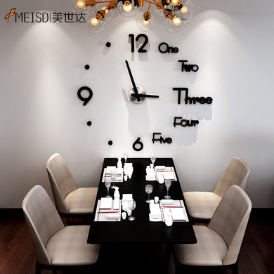 MEISD Large Wall Clock Creative DIY Mirror Stickers Wall Watch Modern Quartz Clocks Live Room Horloge Wall Decor Free Shipping