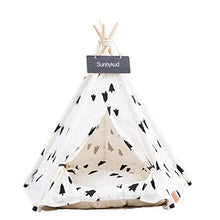 Load image into Gallery viewer, Pet Tent House Cat Bed Portable Teepee With Thick Cushion And 6 Colors Available For Dog Puppy Excursion Outdoor Indoor