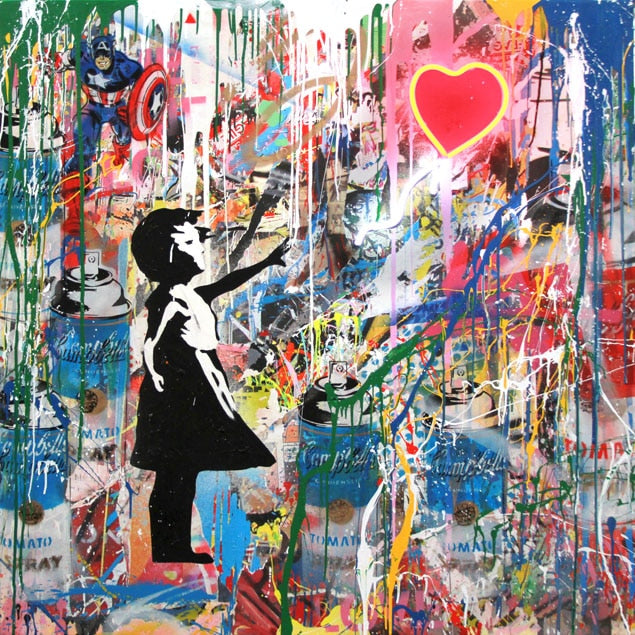Street Graffiti Art Banksy Art Pop Art Canvas Painting Cuadros Posters Wall Art for Living Room Home Decor (No Frame)