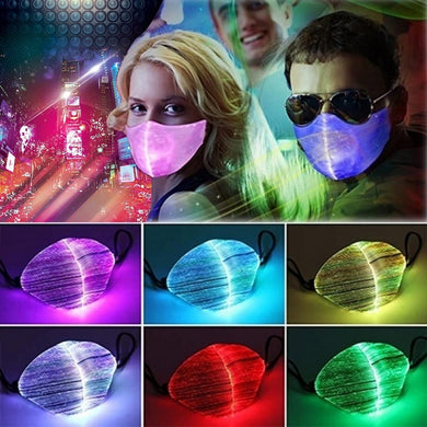 7 Colors Bar LED Light 2020 Fiber Fabric Cool bandana Personality Chargeable Halloween face Party KTV cosplay