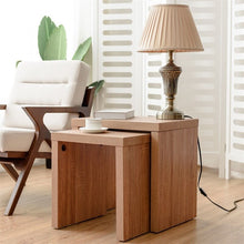 Load image into Gallery viewer, Set of 2 Nesting Wooden Coffee End Table High Quality Chic Minimalist Modern Prevent Scratches Pads Side Table HW58203