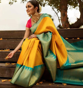 Scintillating Multi Color Designer Silk Saree