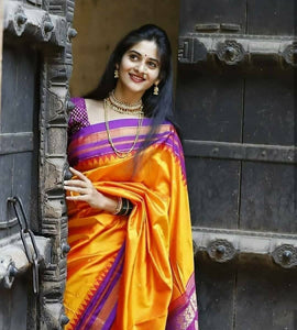 Immaculate Multi Color Designer Silk Saree