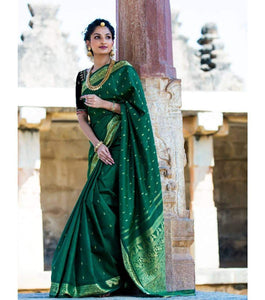 Marvelous Green Color Bridal Saree