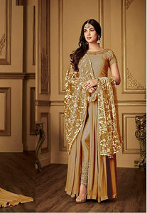 Sonal Chauhan Light Brown Bollywood Anarkali Suit 2020