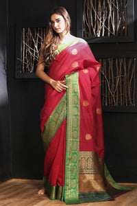 Fabulous Red Color Designer Silk Saree
