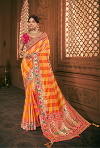Charismatic Yellow Color Designer Silk Saree