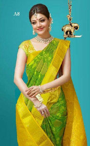 Immaculate Yellow Color Designer Silk Saree