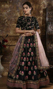 Pink Heavy Worked Bridal Lehenga With Heavy Lace Work On Dupatta Lehenga Choli