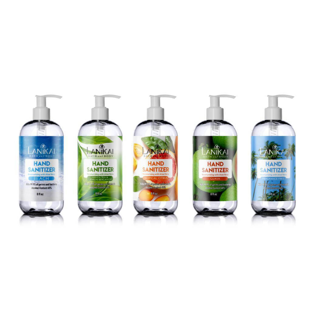 8 oz Natural Hand Sanitizer Gel or Mist