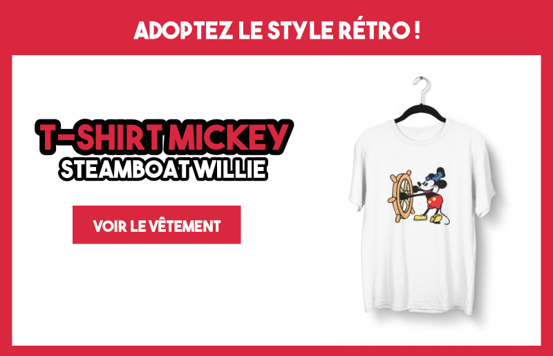 T-shirt Mickey Steamboat Willie