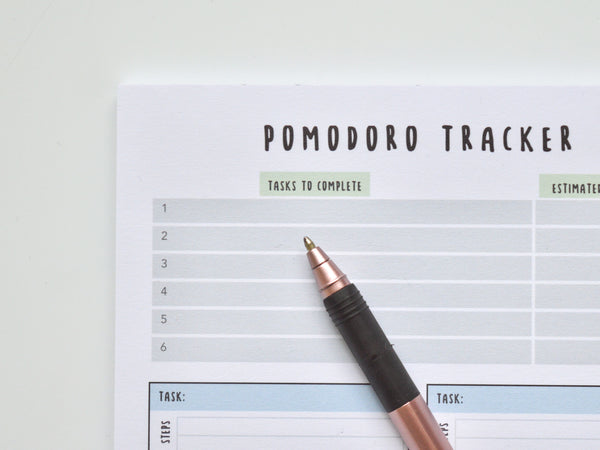A5 Pomodoro Tracker for Productivity