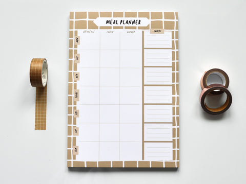Coffee Grid A5 Meal Planner