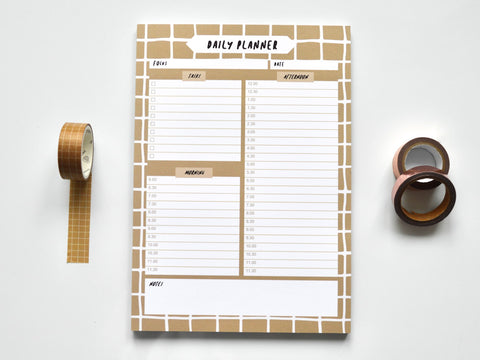 Coffee Grid A5 Daily Planner