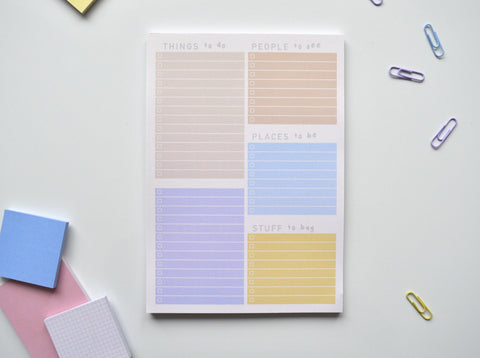 a5 sunrise colourful to do list pad