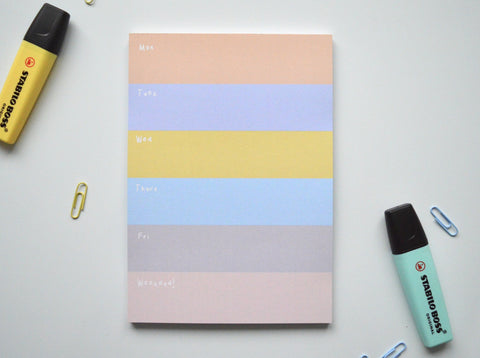 a5 sunrise colourful weekly planner pad
