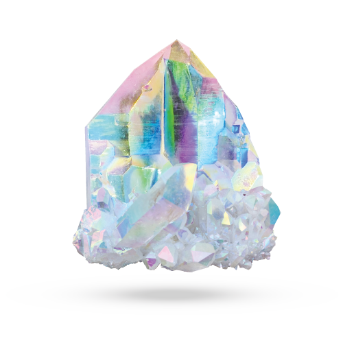 Angel Aura Quartz, Gemstones, Crystals, Healing, Metaphysical, Properties, Voltlin