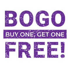Buy One Get One Free! BOGO SALE Limited Time Offer