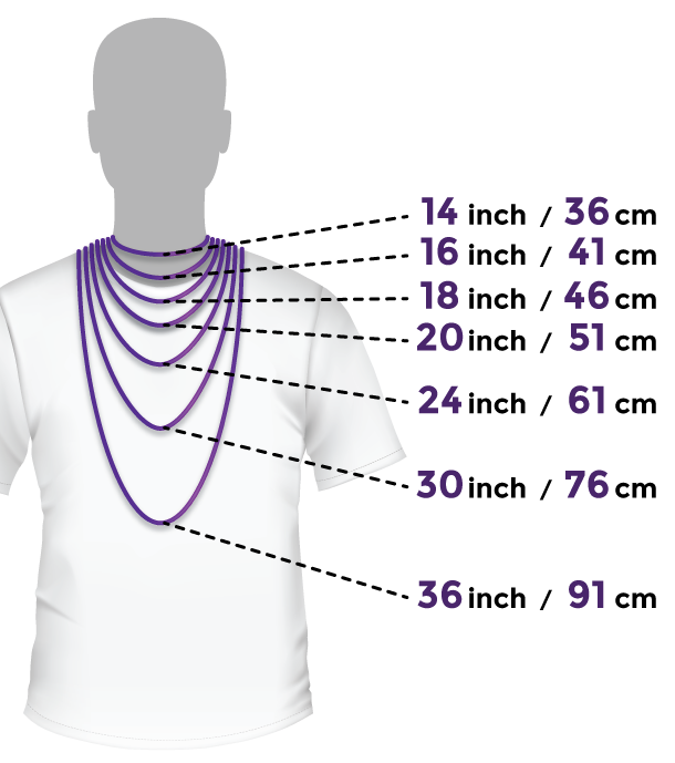 Masculine Body for Necklace Sizing Voltlin Jewelry Crystals & Gemstones