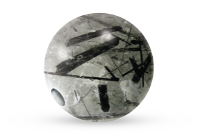 Tourmalinated Quartz Bead Voltlin Spiritual Healing Crystals & Gemstones Jewelry